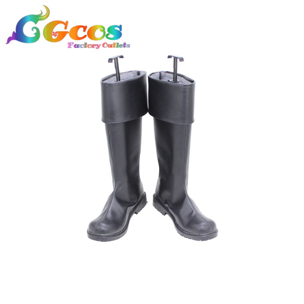 CGCOS Free Shipping Cosplay Shoes FAIRY TAIL Erza Scarlet Boots Anime Game Halloween Christmas