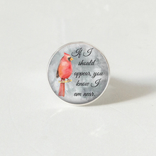 Cardinal Jewelry parrot ring Red Bird round glass Christmas gift for him or her