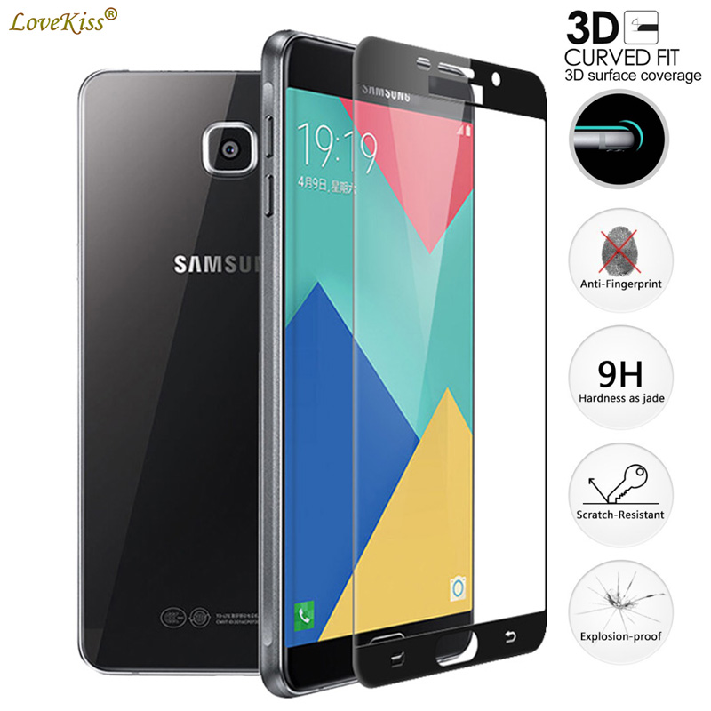 3D Curved Glass Film For Samsung Galaxy A5 2016 A510 SM-A510 A510M A510F Screen Protector Full Cover 9H Tempered Glass Film Case(China)