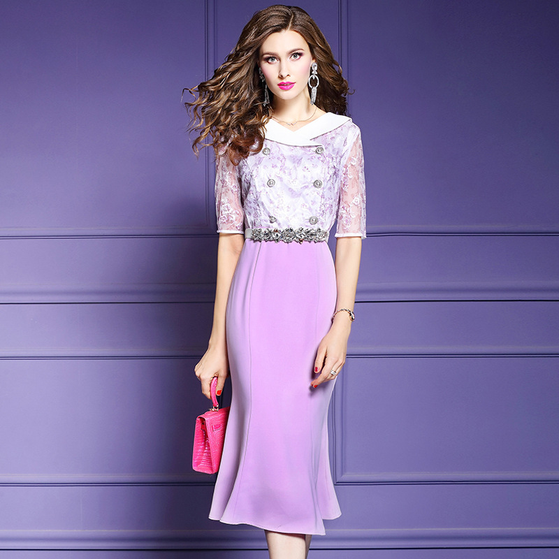 Office Lady dress 3xl 2019 new Spring summer Women V Neck Trumpet Party Dress Plus Size