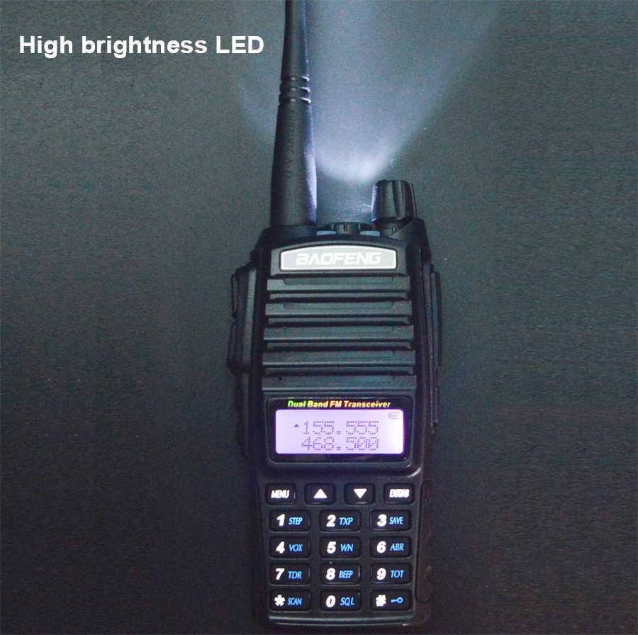 2 قطعة/المجموعة 8W الأصلي المحمولة اتجاهين راديو UV 82 المزدوج PTT راديو BaoFeng UV-82 مزدوج النطاق اتجاهين جهاز الإرسال والاستقبال اللاسلكي + 771 هوائي