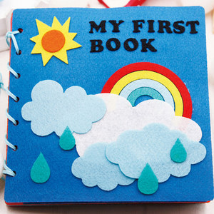 Image 5 - Mom Handmade My First Book 20X20CM Soft Felt Cloth Quiet Book Toys For Kids Early Learning Educational Felt Material DIY Package