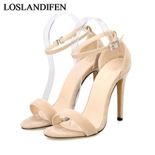 Free Shipping Thin High Heels Less Platform Summer Dress Shoes For Women Sexy Casual Open Toe Sandal Shoes Hot Sale NLK-B0111 real photo 16 cm platform open toe zipper thin heels sexy weeding party women shoes sandals hot sale special colorful green