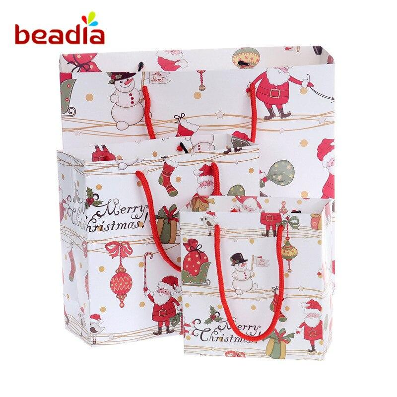 Wholesale Christmas Paper Gift Bags Cartoon Packaging ...