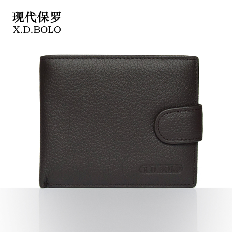 X.D.BOLO 2018 New Men Wallet Genuine Leather Card Holder Zipper&Hasp Wallet Luxury Brand Wallet Mens Coins Free Shipping hot sale 2015 harrms famous brand men s leather wallet with credit card holder in dollar price and free shipping