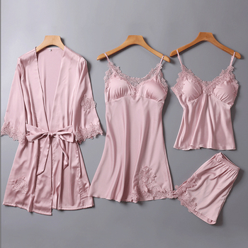 4pcs One Lot Pajama Sleepwear Sets For Women