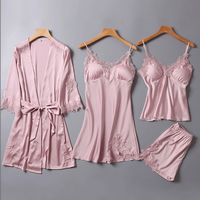 4pcs One Lot Pajama Sets For Women Womens Pyjamas Sleepwear Pijama women 1180