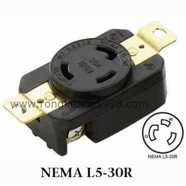 WJ 6330B NEMA L5 30R Locking Receptacle NEMA Twist Lock Receptacle with UL CSA Approved 30A wiring nema l5 30 great installation of wiring diagram \u2022