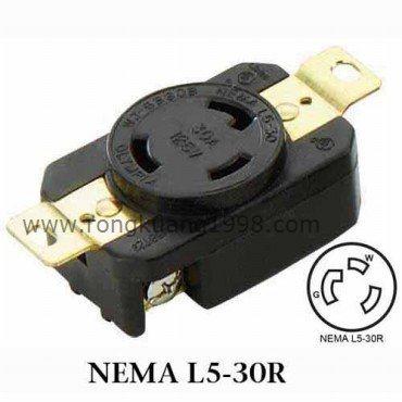 Wj B Nema L5 30r Locking Receptacle Nema Twist Lock