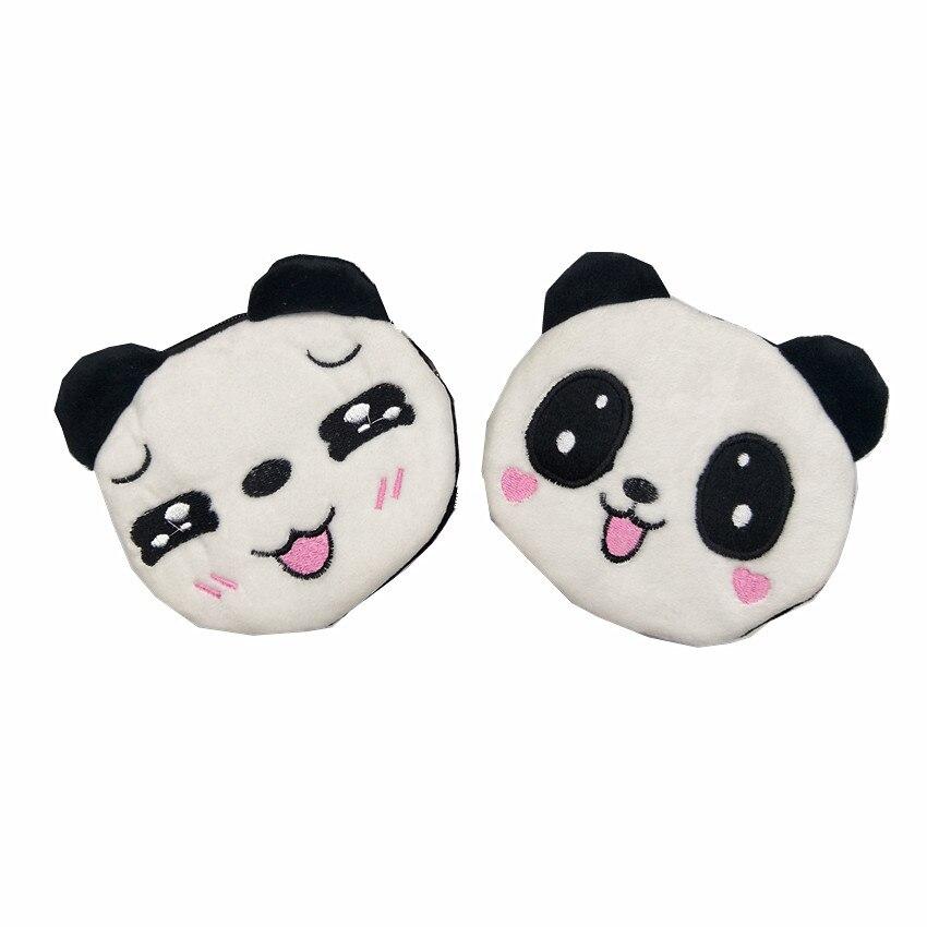M120 Cartoon Plush Coin Purse Cute Zero Purse Smiling Panda Lovely Bird Cat Wallet Card Bag Girl Women Student Gift Wholesale