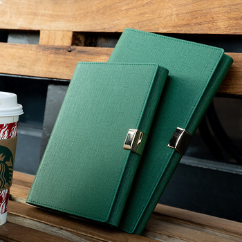 Negócio High-grade 6 Buracos Loose-leaf Notebook Espiral Engrosse Filofax Planejador de Reunião Notepad Diário de Couro Falso Bala jornal