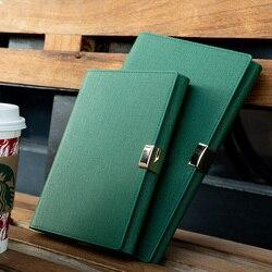 Negocio de alta calidad hoja suelta 6 agujeros cuaderno espiral espesar Filofax reunión Bloc de notas de cuero de imitación diario planificador Bullet diario