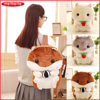 Cute Mouse Hamster Bag Plush Toy Plush Backpack Stuffed Animals Plush Doll Japanese Gift for Kids Girls Kawaii Toys for Children