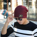 Male cap men beanie caps boys winter hats for man knitted beanies hat stripes gorra pure color bonnet casquette bone gorro