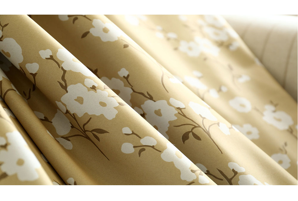 NAPEARL 1 Piece Fresh flowers green curtain Korea living room bedroom fabrics children room window treatment modern kitchen door