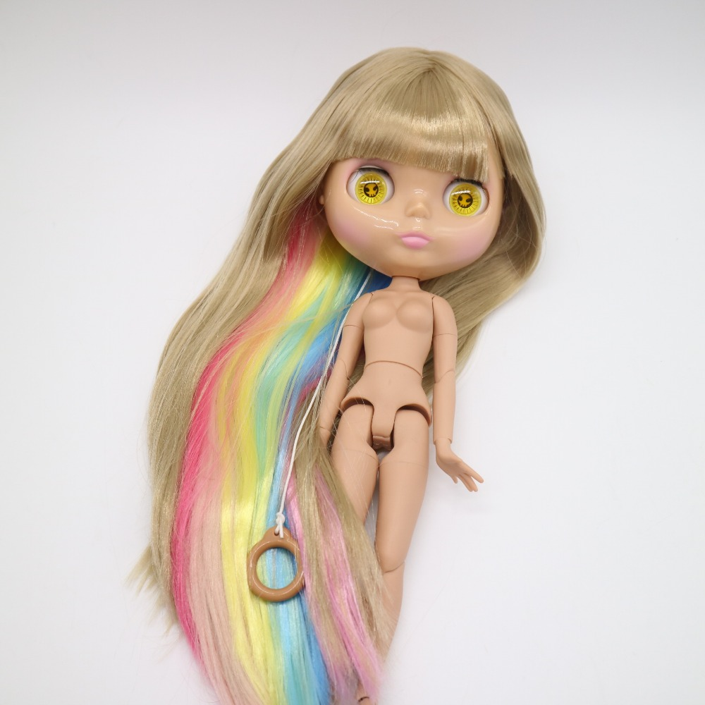 Blyth doll for customized 30cm dolls with mix color hair