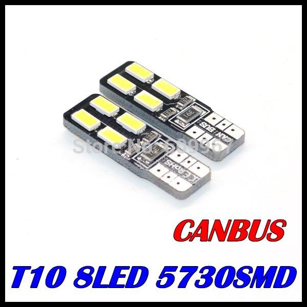 4 x T10 led 8smd Canbus bulb 194 168 W5W 5630 5730 t10 8LED SMD Car Side Wedge Light Bulb Error Free Auto Car clearance light ada instruments tempro 900