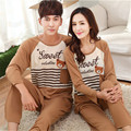 2016 Cotton Couple Homewear pajamas Sets pyjamas men pijama Cartoon Man Sleepwear Best Gift for Lover Girlfriend