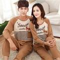 2016 homens pijama de Algodão Casal Homewear Conjuntos pijamas pijamas Dos Desenhos Animados Homem Sleepwear Melhor Presente para o Amante Namorada
