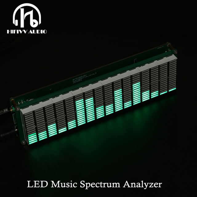 HIFI DIY 레벨 LED 음악 스펙트럼 분석기 오디오 레벨 VU 미터 MP3 PC 앰프 오디오 표시기 속도 조절 가능 AGC