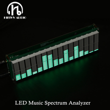 HIFI DIY nivel espectro de música LED de nivel de Audio de Medidor de VU MP3 amplificador de PC de Audio indicador de velocidad ajustable AGC