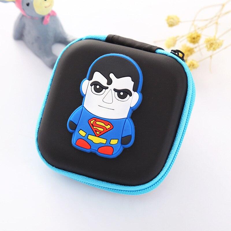 Новинка мультфильм Small Mini монета Сумки Герой Супермен Капитан Америка eva силиконовые портмоне держатель для наушников подарки изменить Жен...