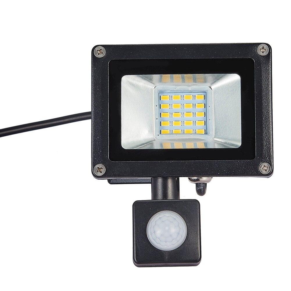 LED OUTDOOR GARDEN FLOOD LIGHT 20W PIR MOTION SENSOR SECURITY OUTSIDE SPOT IP65