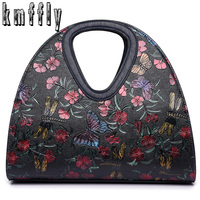 Embroidered butterfly bag Retro Leather bag luxury handbags women bags designer brand ladies hand bag Sac a main femme de marque