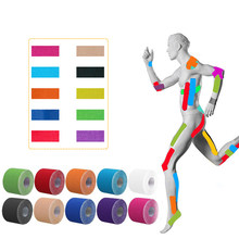 2 Size 5M Length Elastic Sport Tape Kinesiology Tape Athletic Strapping Gym Tennis Fitness Running Knee Muscle Pain Care(China)