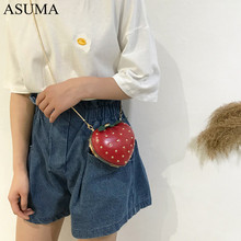 Women Chain Purse Shoulder Bag Gift Strawberry Design Leather Mini Messenger luxury handbags women bags designer Evening