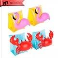 1 пара ПВХ кольцо для плавания Краб Фламинго надувные повязки для рук плавающие рукава водные крылья плавающие руки поплавки для детей