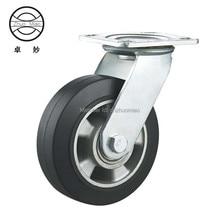 New style 5 inch aluminum core rubber tread heavy duty caster wheel swivel