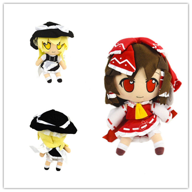 HOT 2 Style Japanese Game Anime Cosplay Doll TouHou Project Flandre Scarlet/Hakurei Reimu Cartoon Kawaii Plush Pendant 10'' Gift image