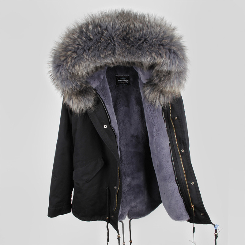 woman real fur parka jacket hooded natural raccoon fur collar trim genuine fur army green winter warm coats for femme outwear winter jacket women 2017 army green coat real raccoon fur collar hooded warm down jacket parka womens coats and jackets dhl free