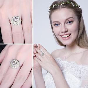 Image 4 - JewelryPalace oryginalna 1.4ct zielony ametyst Peridot efekt aureoli 925 srebro Vintage urok biżuterii moda dla kobiet