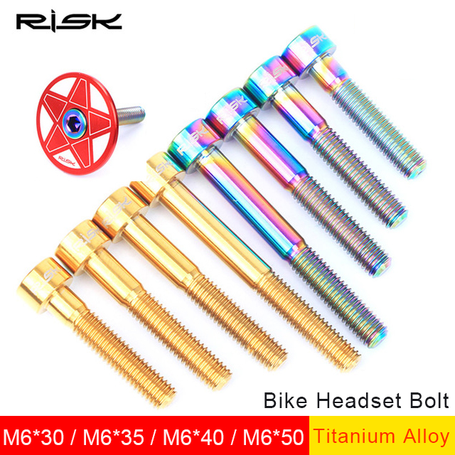 Cycling Bicycle Components & Parts 1pcs M6 Titanium Alloy Bike