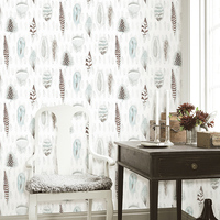 Modern American Wallpaper Fashion Feathers Nordic Bedroom Living Room TV Background Dining Room wallpapers for living room