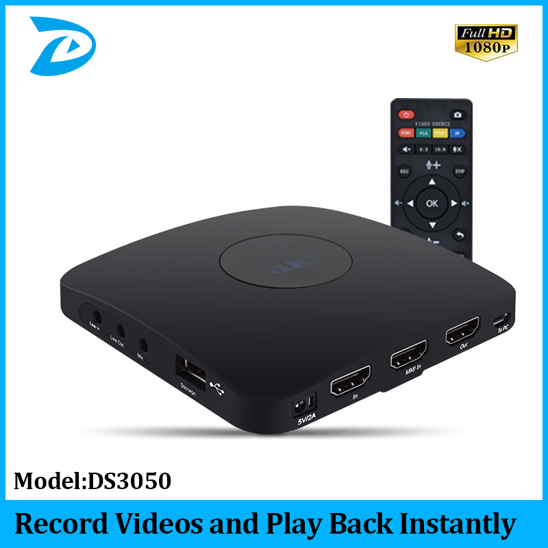 Capture 1080p HDMI Videos/games And Play Back Instantly With The Remote Control, Schedule Recording, HDMI/VGA/AV/YPbPr Input