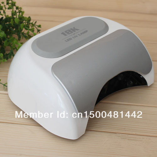 Free Shipping Genuine 110V - 240V 18K LED Nail Dryer Lamp Timer EU/US Plug with Sensor, Voltage Adapter цена и фото
