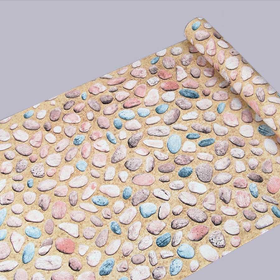 m rollo de huevo de piedra pvc vinilo etiquetas de la pared del papel