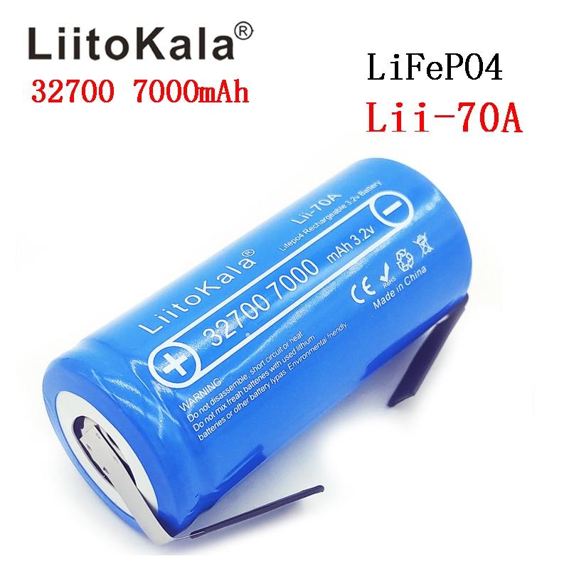 2019 LiitoKala Lii-70A 3.2 V 32700 7000 mAh LiFePO4 batterie 35A décharge continue Maximum 55A haute puissance batterie + feuilles de Nickel