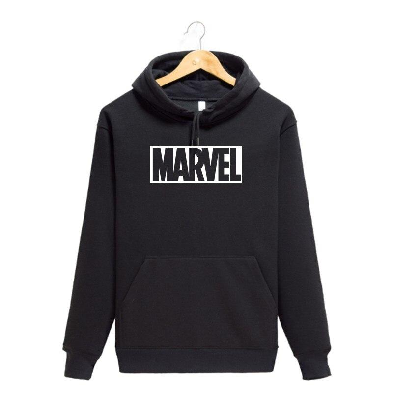 2019 New Fashion MARVEL Hoodies The Avengers Male Large Size Warm Fleece Coat Men Brand High Quality Hoodies Sweatshirts Size