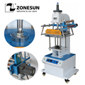 ZONESUN ZY-819Q Pneumatic Stamping Machine leather LOGO Creasing machine LOGO stampler name card stamping machine