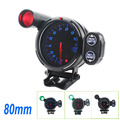80mm D*fi RPM Tachometer gauge with Warning 12VCar Universal DE Stepper Motor Tacometro Rpm Meter Auto Gauge Blue White Red LED