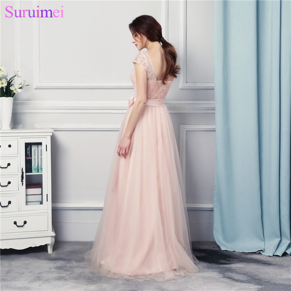 Silver Gray Bridesmaid Dresses Chiffon Cap Sleeves Lace Applique Purple And Royal  Blue Corset Lace Up Back Long Bride Maid DressUSD 48.00 piece 7f0f213ffb72