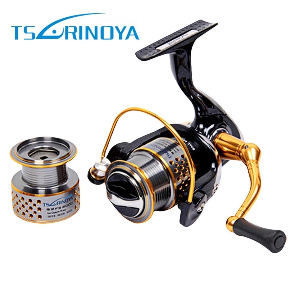 TSURINOYA ligero 11 + 1BB 5:2:1 Spinning pesca carrete de Metal para la pesca de la carpa señuelo Tackle línea
