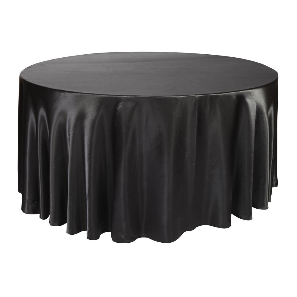 10pcs 275cm Round Satin Tablecloth Table Cover Polyester Table Cloth Oilproof Wedding Party Restaurant Banquet Home