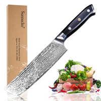 """SUNNECKO 7 """"pollici Mannaia Coltello da Chef Giapponese VG10 della Cucina del Centro di Coltelli Da Cucina Lama di Rasoio Affilato G10 Maniglia di Damasco di Taglio in acciaio"""