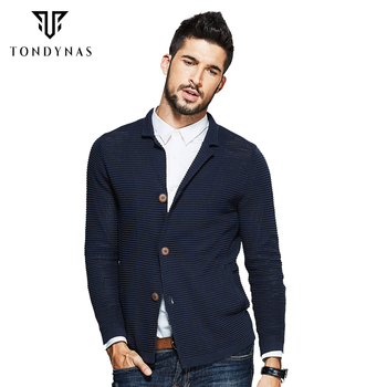 TONDYNAS man striped with pockets long sleeve sweater 17022