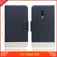 5 цветов горячей! NOA N5 чехол по индивидуальному заказу ультра-тонкий кожаный эксклюзивный чехол для телефона чехол книга форматом в пол-листа слот для карт